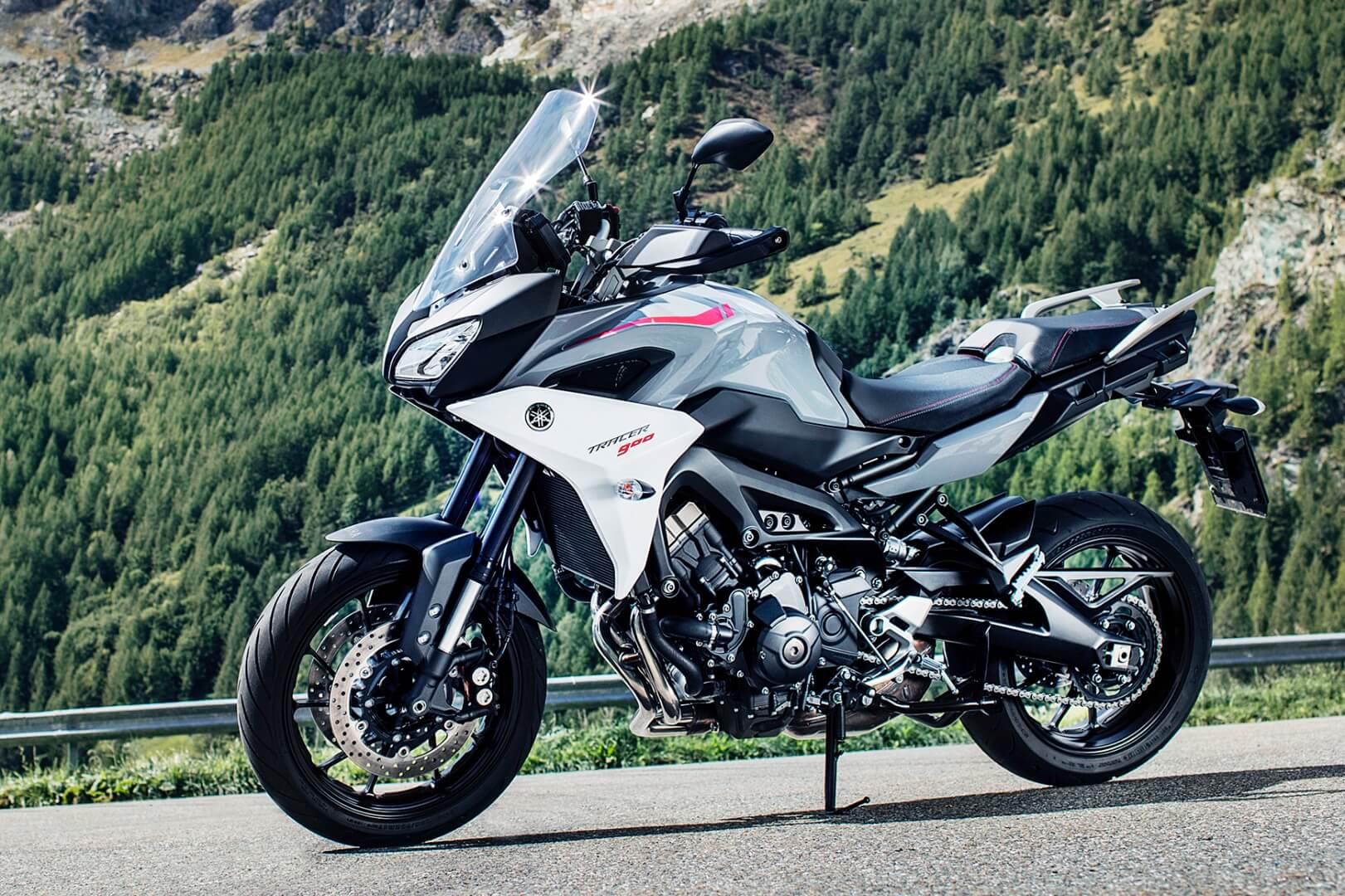 Yamaha Tracer 900 mountain motorcycle