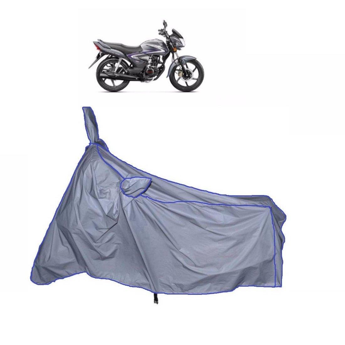 Fabtec Waterproof Bike Body Cover For Honda Shine Heavy With Microfiber Glove Combo( Multicolour)
